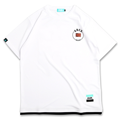 Arch hem color tee[DRY]【white】のイメージ