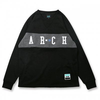 Arch three square logo dry sweat【black】のイメージ