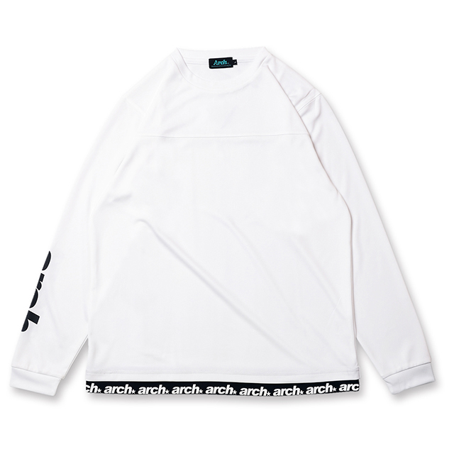 Arch sporty logo L/S tee [DRY]【white】のイメージ