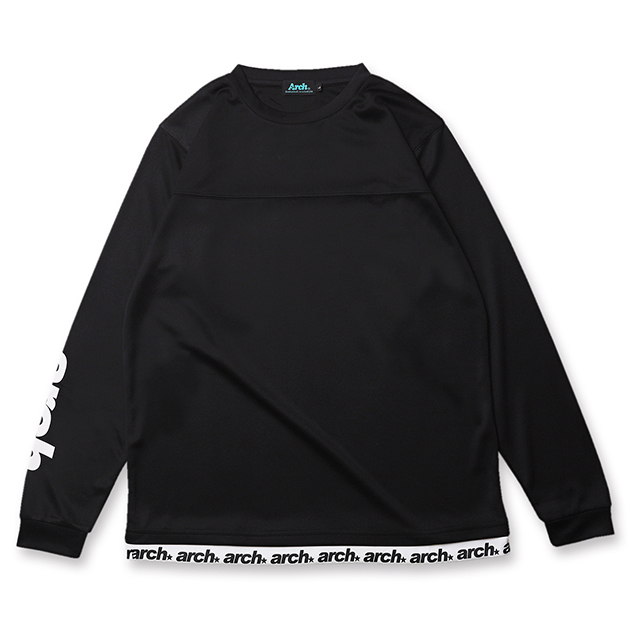 Arch sporty logo L/S tee [DRY]【black】のイメージ