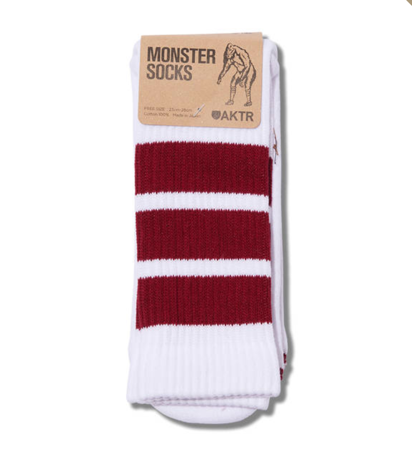 MONSTER SOCKS WHITExREDのイメージ