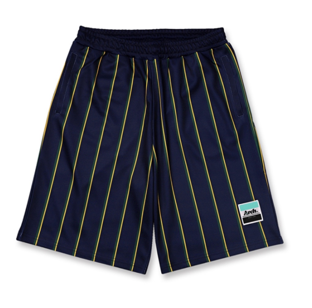 Arch trad stripe shorts 【navy】のイメージ