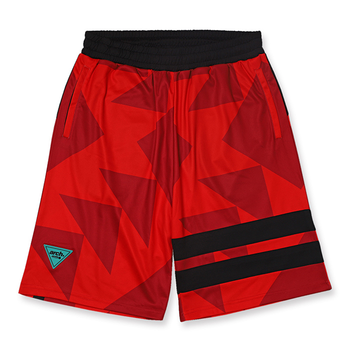 Arch sporty logo shorts【red】のイメージ