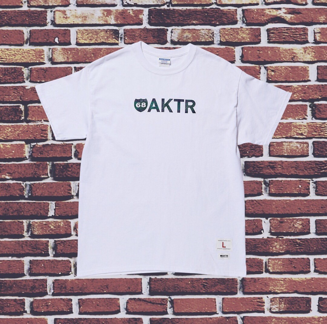 AKTR x68 BLACK WATCH LOGO TEE WHITEのイメージ