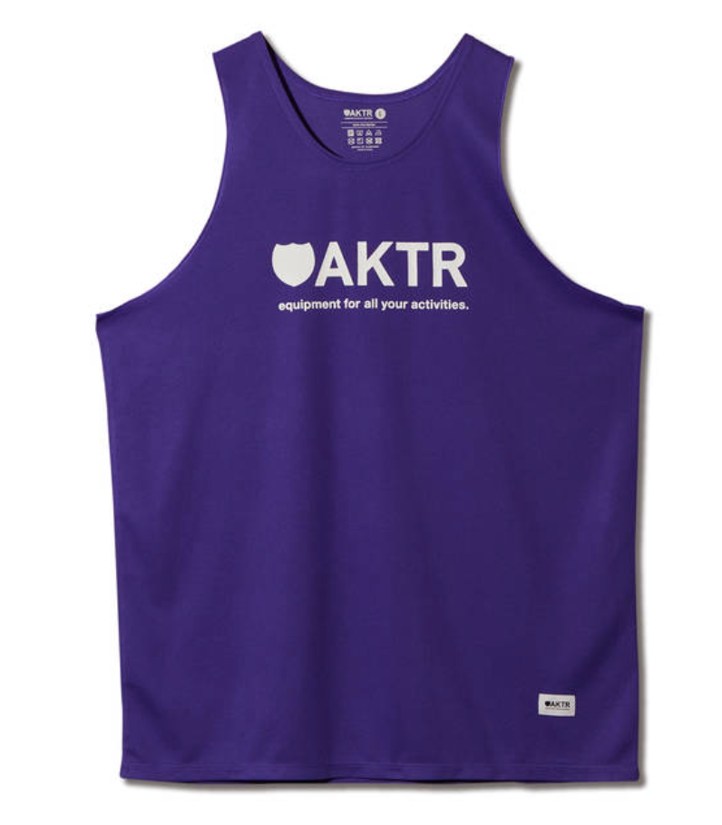AKTR BASIC LOGO TANK PURPLEのイメージ