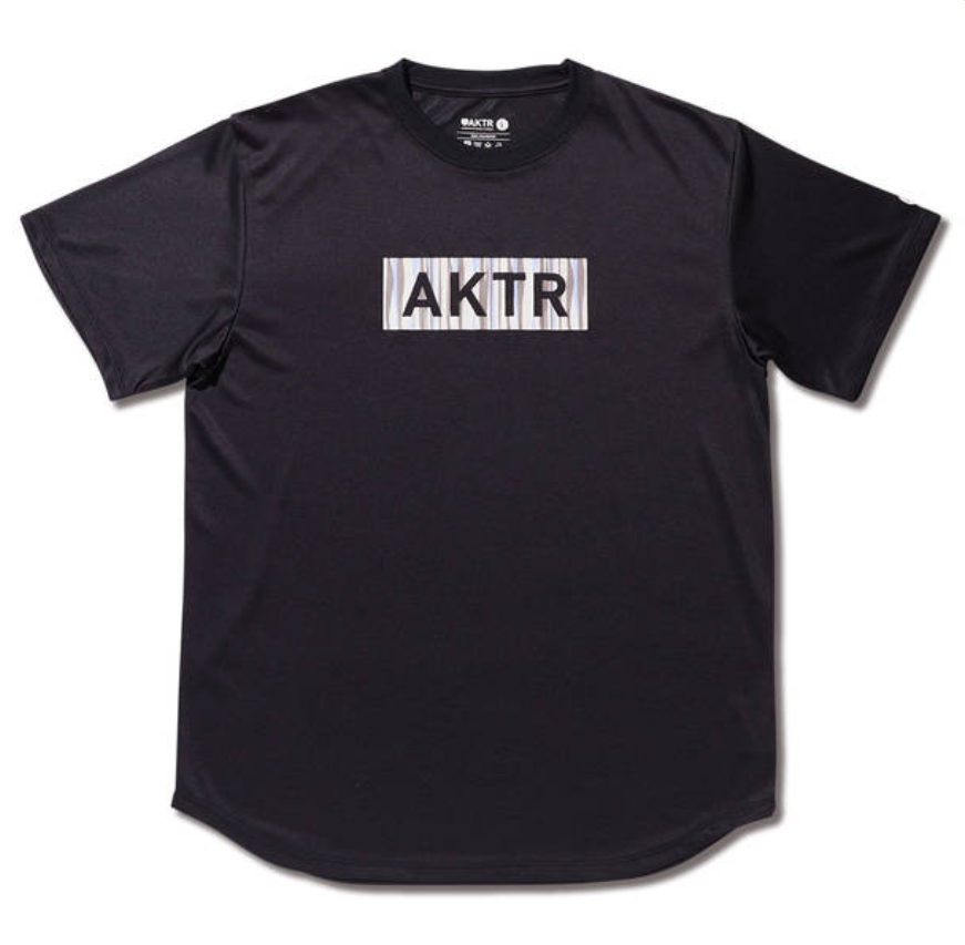 AKTR SUMMER STRIPE BOX LOGO SPORTS TEE BLACKのイメージ