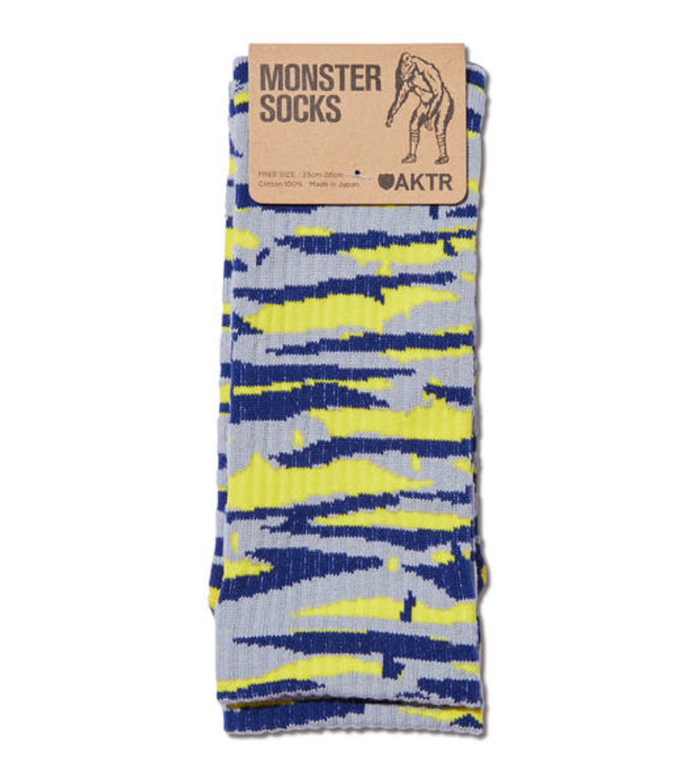 AKTR MONSTER SOCKS GRAYxYELLOWのイメージ