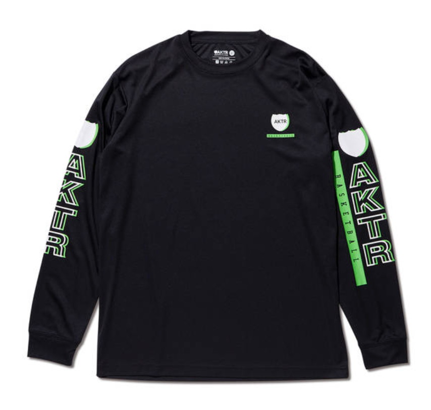AKTR BASKETBALL L/S SPORTS TEE BLACKのイメージ