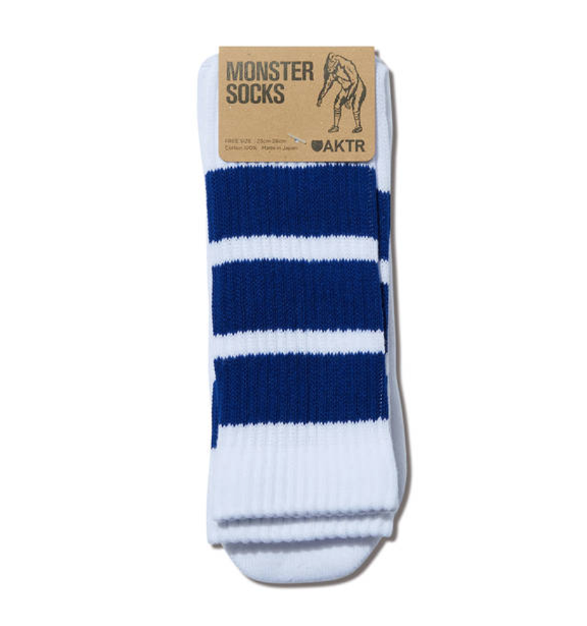 AKTR MONSTER SOCKS WHITExBLUEのイメージ