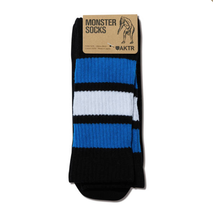 AKTR MONSTER SOCKS BLACKxBLUEのイメージ