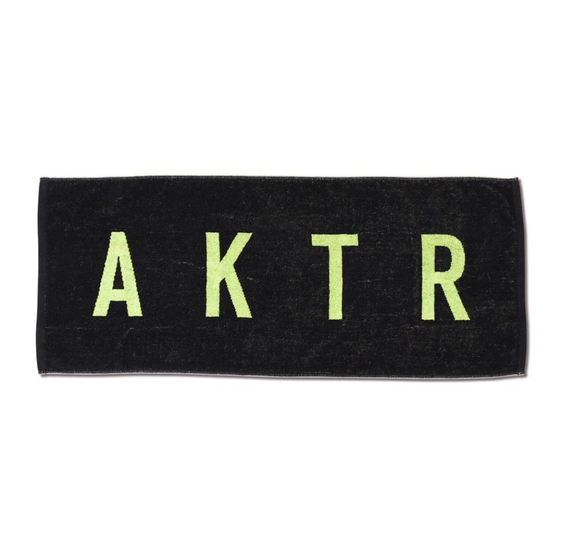 AKTR SPORTS TOWEL LOGO BLACKxGREENのイメージ