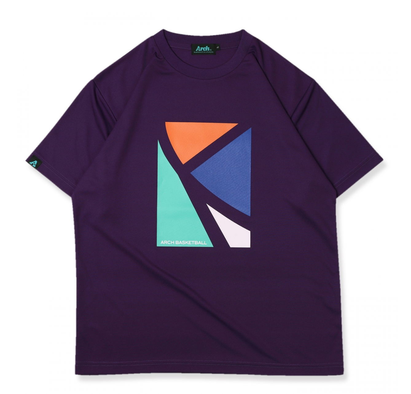 Arch elbow tee【purple】のイメージ